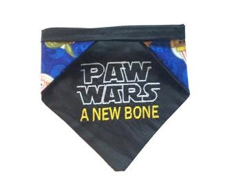 Paw Wars reversible pet bandana