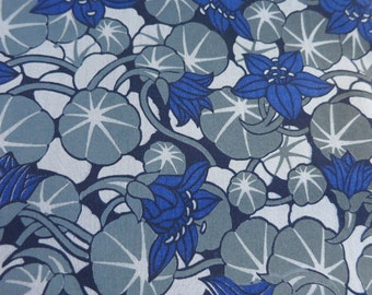 Half Yard - Hand printed - Lily Pad Pond cotton fabric