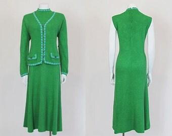 1960s dress / Apple Of My Eye Vintage 60's St. John Knit Sweater Dress Set