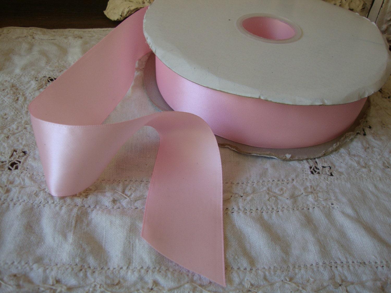 Pink satin ribbon 1 1 2 destash wedding craft supplies 3 for Wedding craft supplies