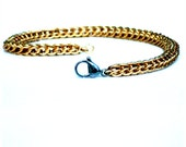 Gold Colored Chainmaille Bracelet with Stainless Steel Clasp, Full Persian, Persian Chainmaille, Chainmaille Jewelry, Chain Jewelry