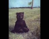 The Bear Suit, Original Painting, Costume, Mask, Bear, Teddy Bear, Surreal, Macabre Art, Weird Art, Scary, Cosplay, Furry, Animal, Mystery