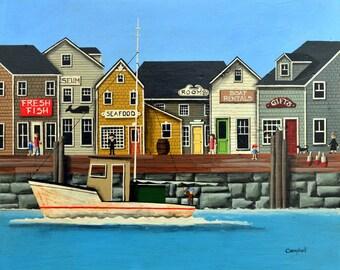 Cape Cod Wharf Giclee Print