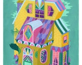 Yellow House - Giclee Print
