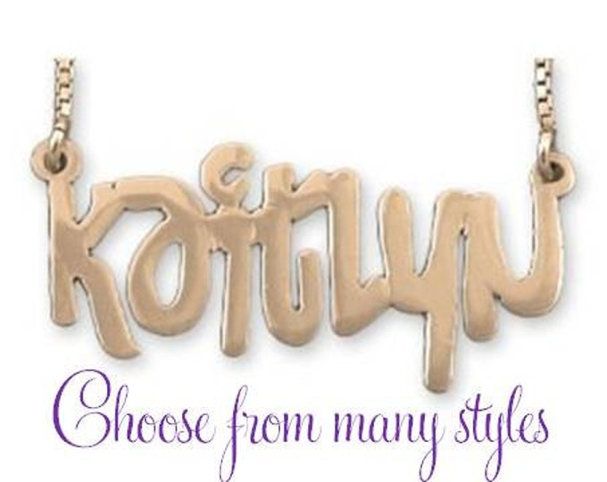 Personalized Gold Name Necklace - choose from many styles