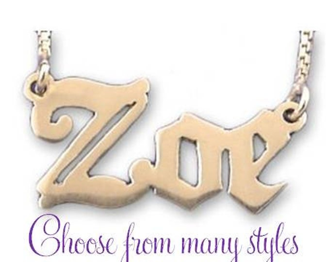 Gold Name Necklace - choose from many styles