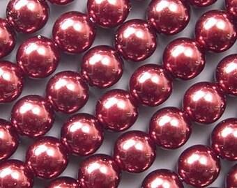 Czech Glass Pearl Beads 8mm Bronze 17624 Round Beads, 8mm Pearls, Czech Beads, Bronze Beads 8mm Beads Jablonex Beads, Preciosa Ornela