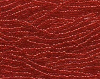 Czech Seed Beads 6/0 Transparent Lt Ruby Red 31711 , Transparent Glass Seed Beads, Size 6/0 Seed Beads, Jablonex Seed Bead, 4mm Seed Beads