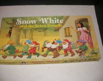 Vintage Snow White and the Seven Dwarfs Board Game by Cadco 1977 100% Complete