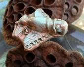 88. Pre-Columbian Insectus Invictus Earthenware Gilders Paste Copper Verdigris Pendant
