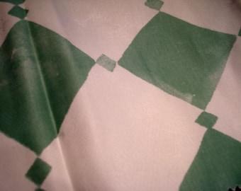 "Sale! Marimekko Green Diamond Three 46"" x 8"" Strips Lightweight Sateen / no.45"