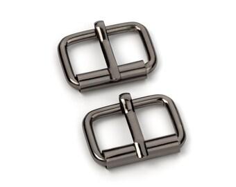 "100pcs - 1"" Roller Pin Belt Buckles - Black Nickel - Free Shipping (ROLLER BUCKLE RBK-115)"