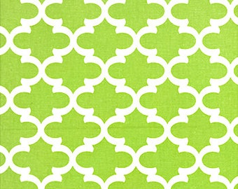 "Home Decor Fabric | Fulton Kiwi Green White 54"" width 