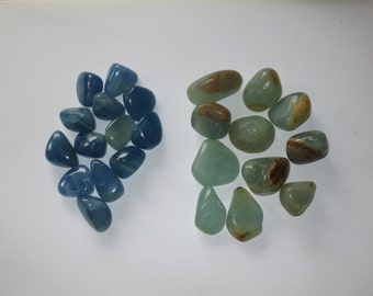 Choose One - High Grade or Regular Grade - Tumbled Bue Onyx