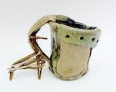 Twisted Rustic Tree Mug, Primitive Hobbit Cup, Medium Pottery Vessel, Hand built Coffee Mug