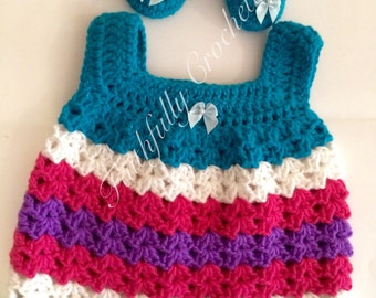 Newborn sundress.. Matching Mary Janes... Ready to ship... Baby dress.. Mary Janes