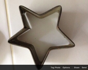 Vintage Christmas  cookie cutter tin star