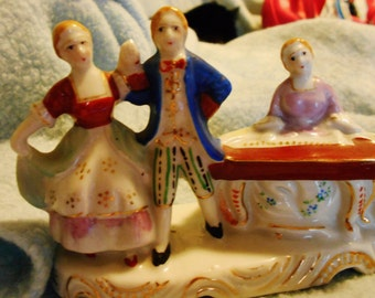 Vintage Colonial Figurines Dancers and Piano Player made in Occupied Japan