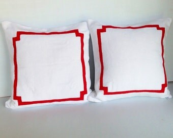 Unique Gift for her,Bedroom decor, Border Pillow Cover,Pillows with borders,