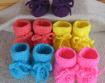 Crochet Doll Shoes - 5 for 1 price - Bitty Baby Doll - Lot 4