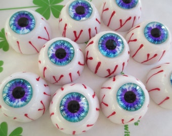 Chunky Bloody Eye cabochons 2pcs 24mm New item ( 005 )