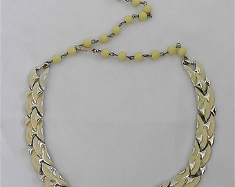 Vintage Coro Yellow Choker/Necklace