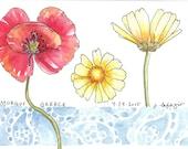 Wildflower in Greece ~ original watercolor