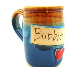 Bubbie mug  Handmade Pottery  Wheel thrown Stoneware  Mug   Jewel Pottery   Cup   Each one Unique
