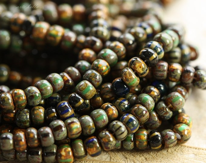 FOREST MIX No. 3 .. Premium Picasso Czech Glass Seed Bead Mix Size 6/0 (4616-st)