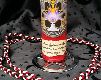 """HANDFASTING/ GREAT RITE 8"""" Red Ritual Candle Wicca Witch Pagan Altar Spell Meditation"""