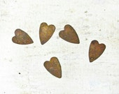 Rusty Tin Metal Hearts, Wedding Decorations, Wreaths, Scrapbooking,Card Making,Art Projects