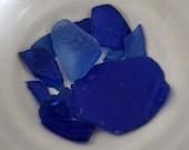 Rhode Island Beach Blue Sea Glass 12 pcs
