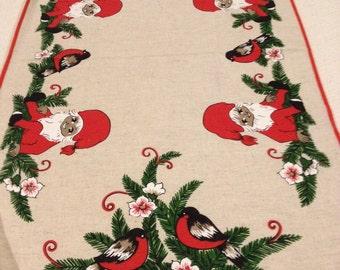 Vintage Christmas Table Runner