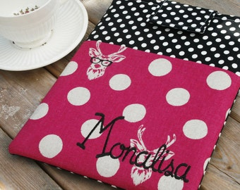 Monogrammed iPad Case|Mini ipad sleeve|ipad air|Personalized tablet case|MADE to fit ANY brand|Pocket Case for ipads - tablets in Nerd Alert