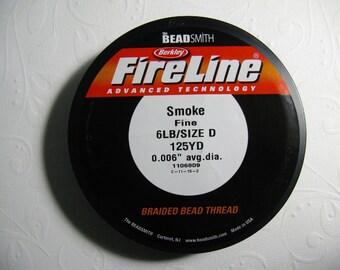 Fireline Braided Beading Thread, Smoke, 6LB Test -   125 YD spool