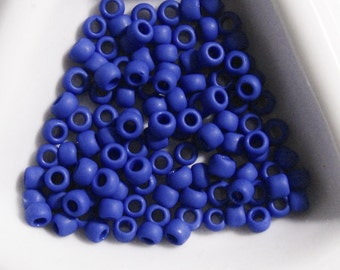 Toho 8/0 Cobalt Opaque Frosted  - 191-  approx 25 grams -