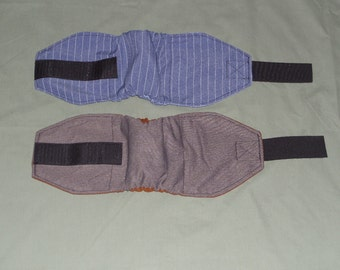 "2 Pinstripe Male Dog Diapers | Dog Belly Band Wrap | 15"" - 18"" Dog Wrap 