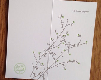 sympathy letterpress greeting card