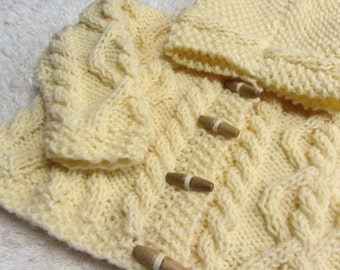 Hand Knitted Baby Hoodie