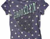 Women's Brooklyn T-Shirt in Red White and Blue Stars