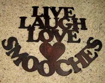 Live Laugh Love Smooches-home art, family art, kisses, love, romance, wall art, home decor
