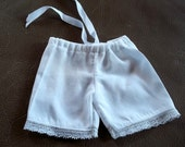 Bleuette Victorian Bloomers, Lace trim, ribbon tie, Handmade