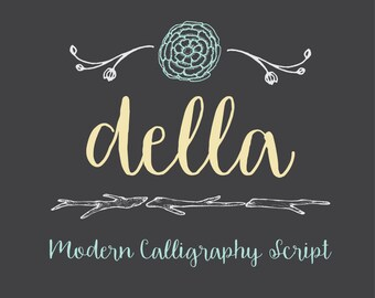 Della Hand Drawn Font by OTSS