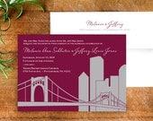 Pittsburgh Skyline Wedding Invitation