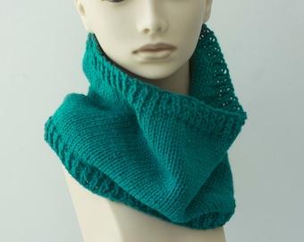 Custom Hand Knit Neck Warmer, Cowl Scarf, Chose Color, Neckwarmer, Women's Scarf