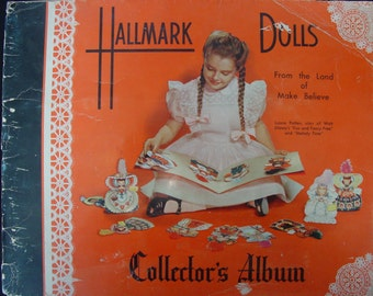 1948 Hallmark Dolls Collector's Album From the Land of Make Believe/Paper Dolls/Story Time