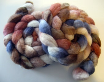 Midnight Woods-  BFL Wool Roving (Top) - Handpainted Spinning or Felting Fiber - 4 ounces
