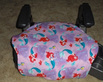 Little Mermaid  toddler booster seat cover--booster not included