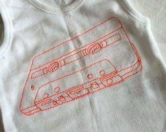 Cassette Baby vest, mixtape Baby Vest Romper suit, cassette baby sleepsuit