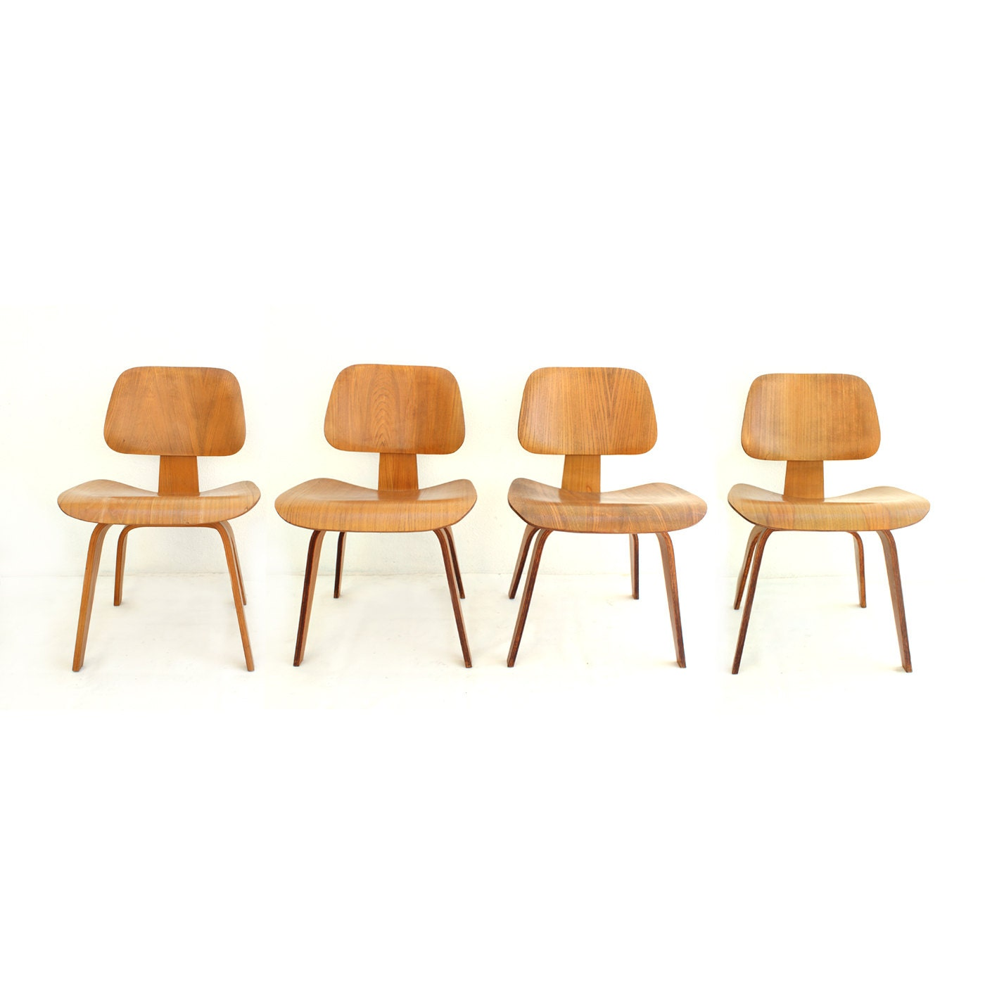 Sale evans early production charles eames dcw herman miller chairs set